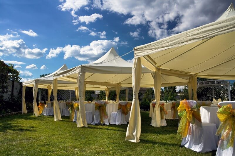 Pop Up Tents in summer