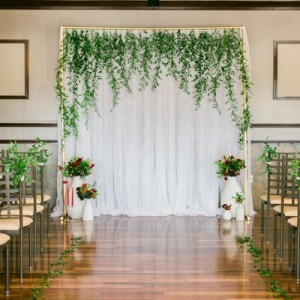 nature theme wedding, bring plant life inside