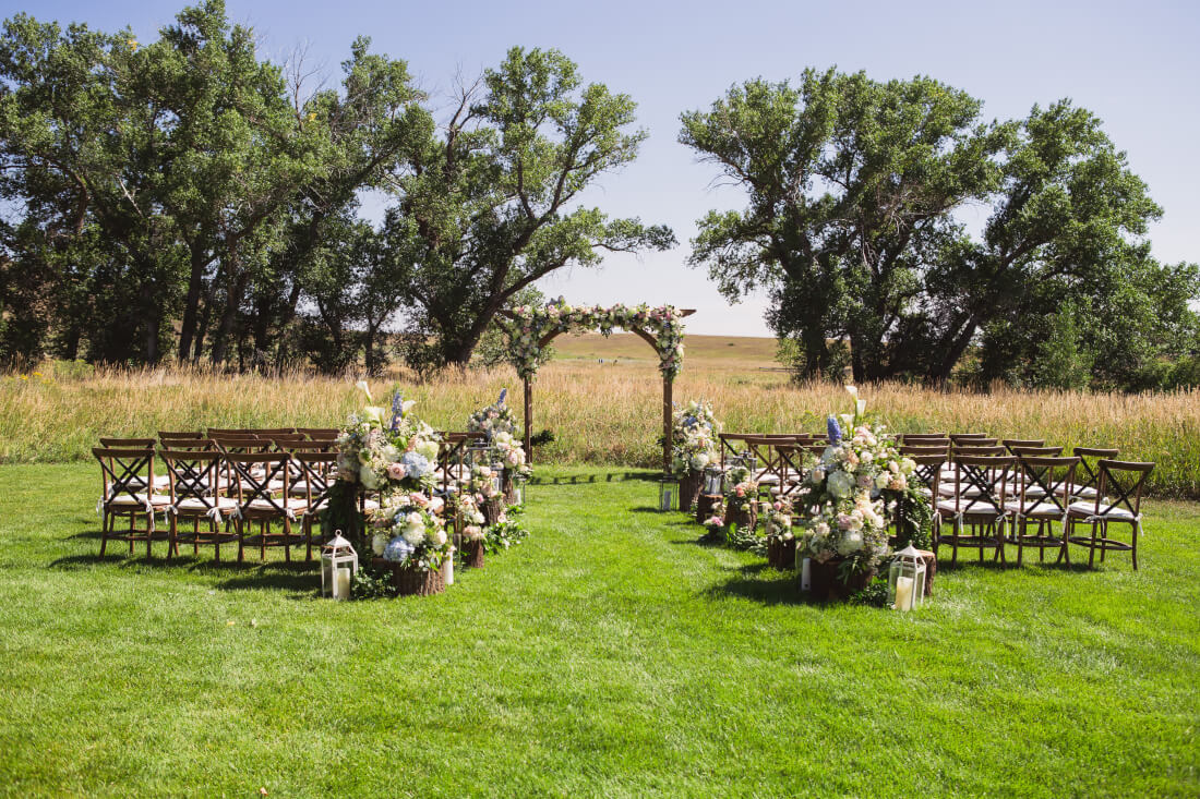 rustic wedding in summer