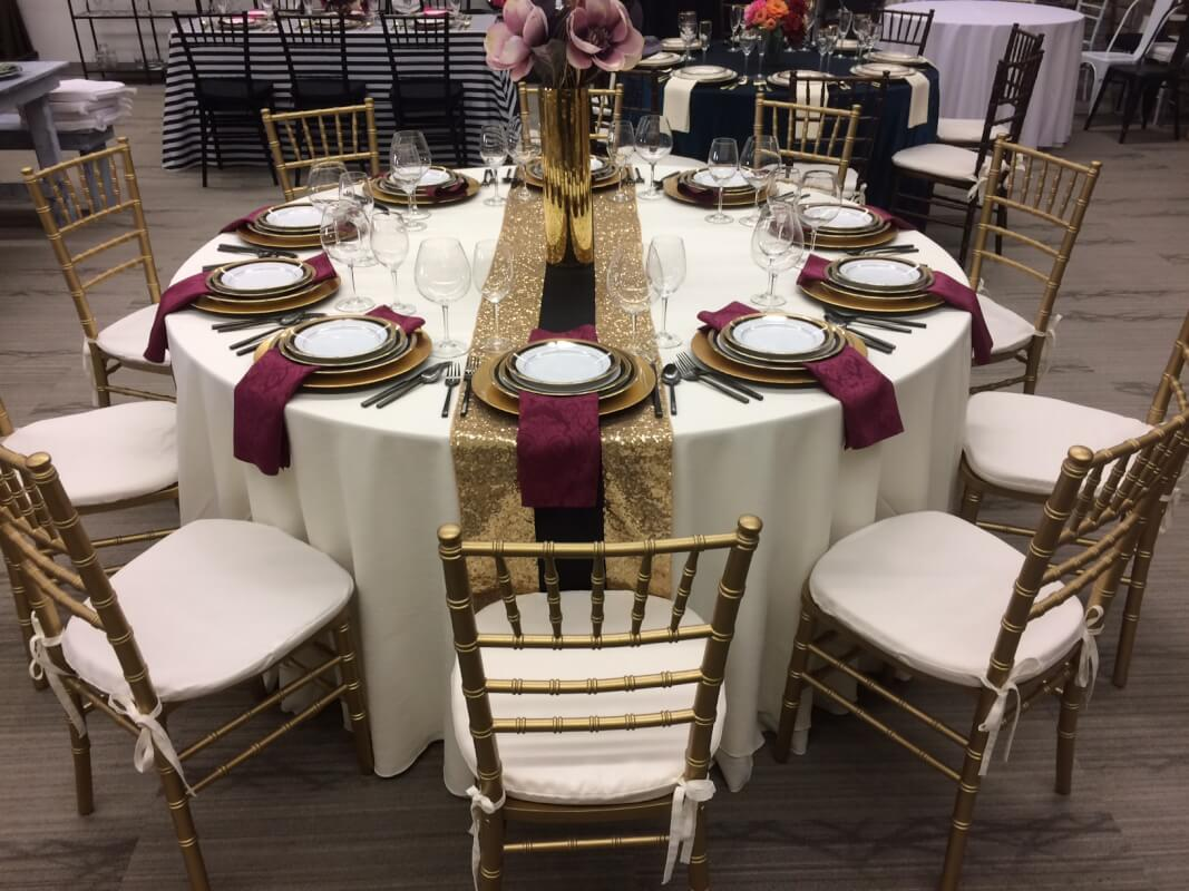 round table for wedding and events