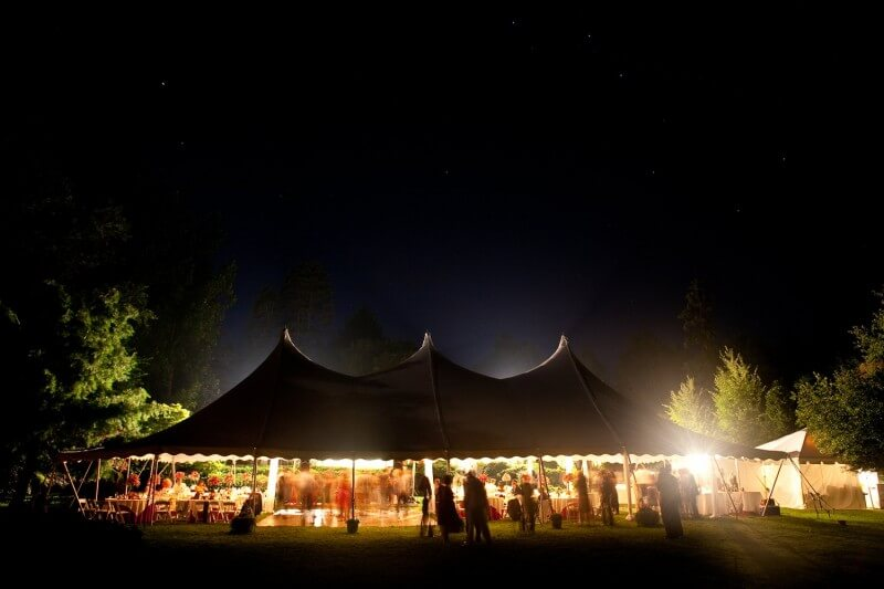 Corporate event under a tent